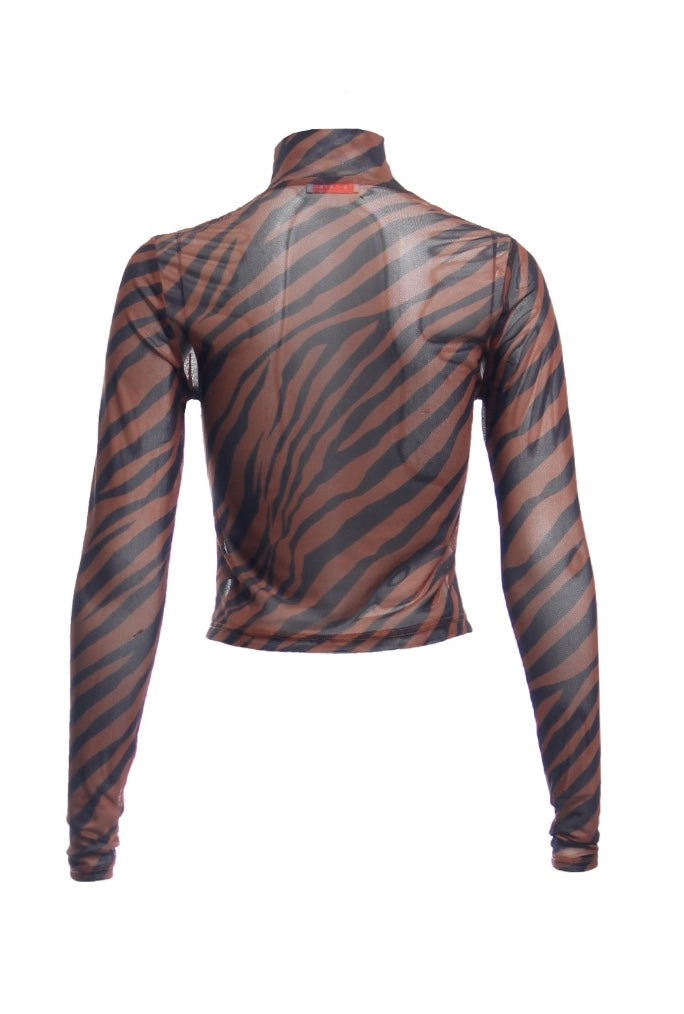 Tiger Mesh Turtleneck