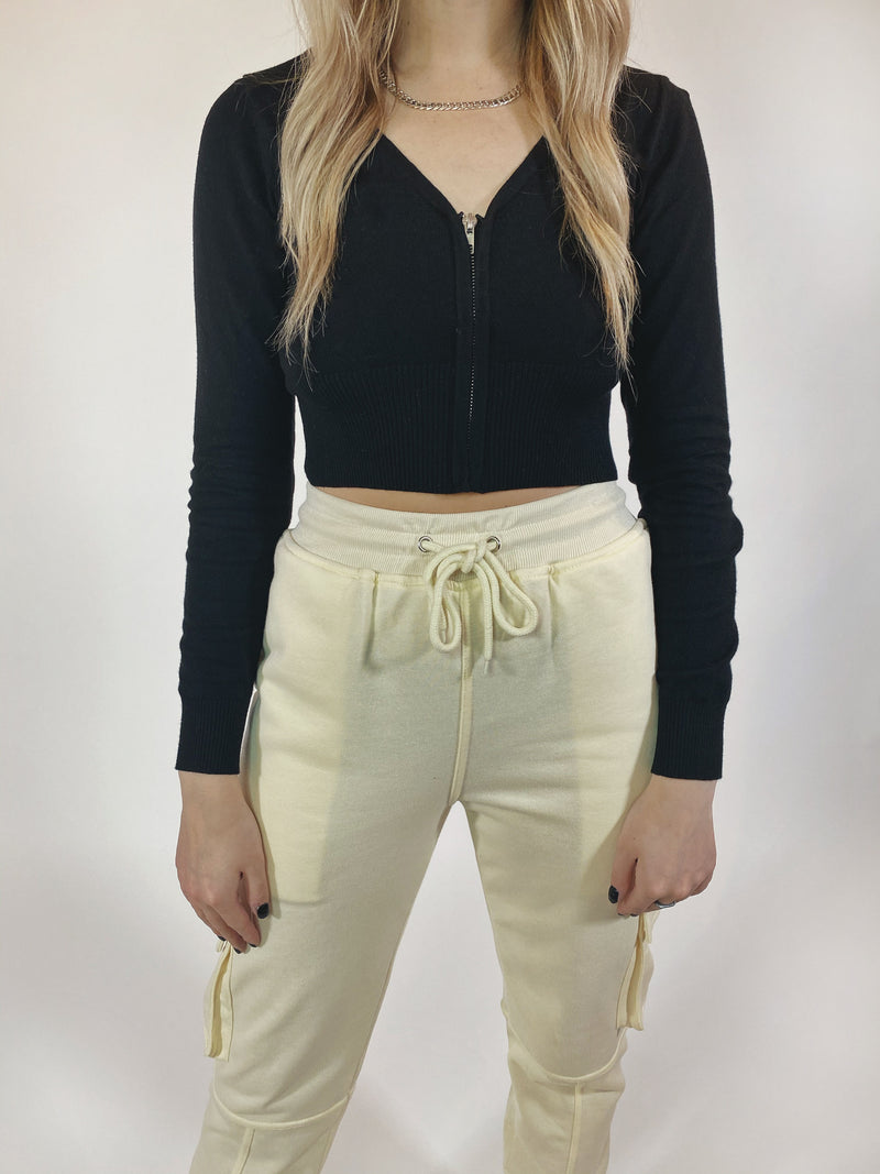 Get Zipped Crop