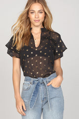 Good Intentions Woven Top - Black