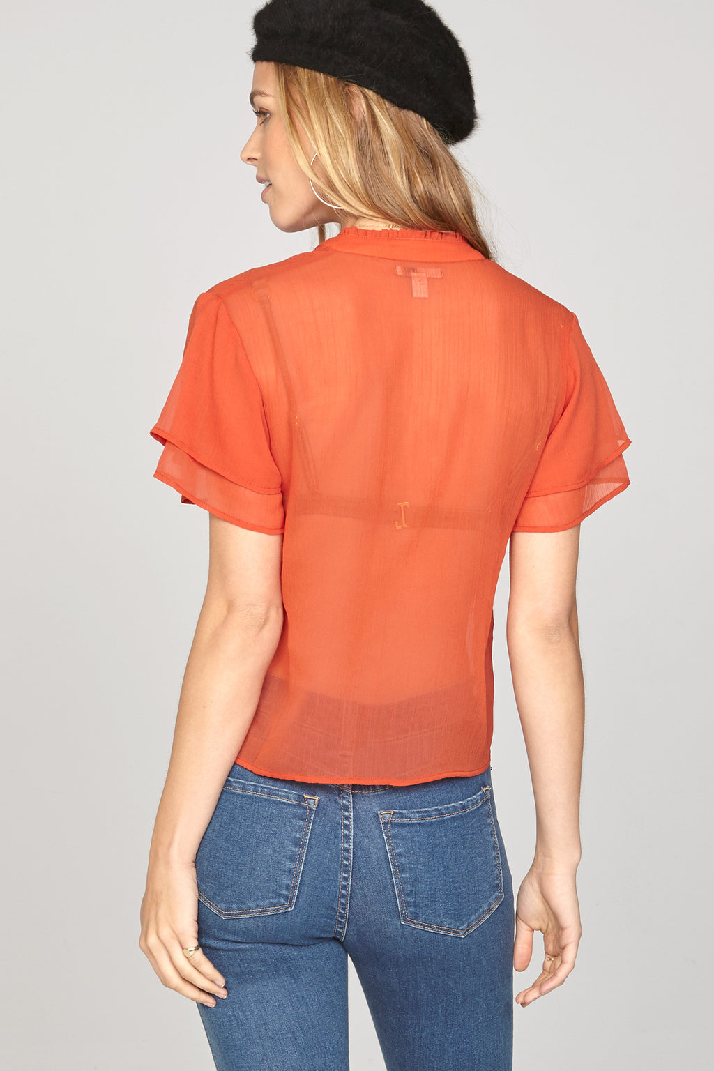 Good Intentions Woven Top - Red
