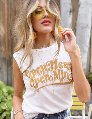 Open Heart Open Mind Muscle Tee