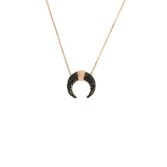Horse Shoe CZ Necklace