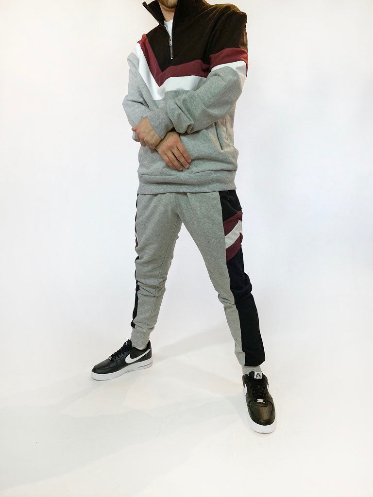 Men's Paralaxx Quarter Zip - Grey/Maroon