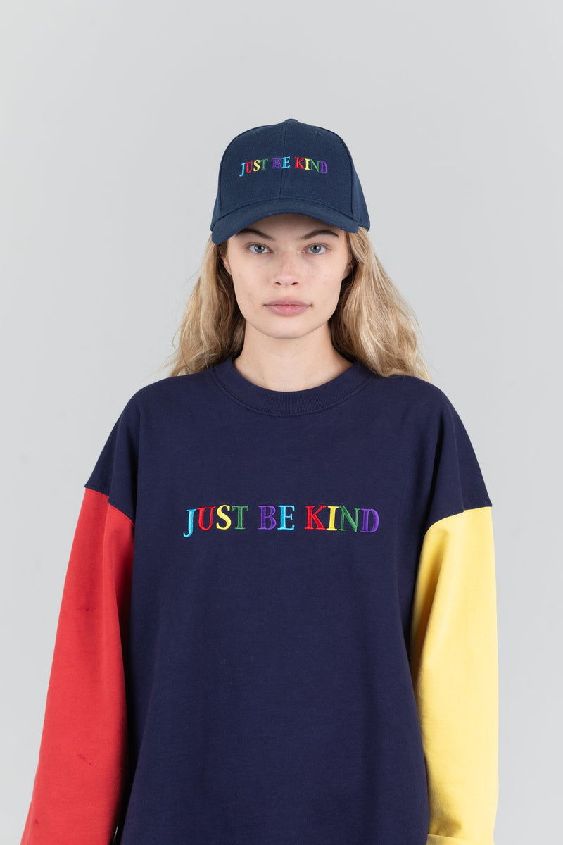 Mayfair Just Be Kind Colorblock Crewneck