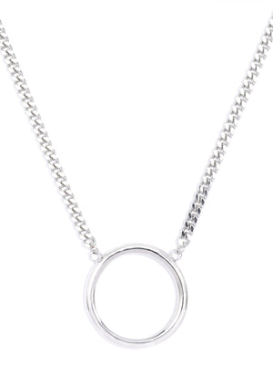 Key Ring Necklace - Silver