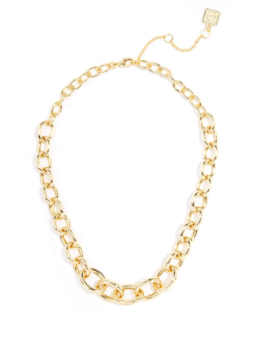 Oval Link Chain Collar Necklace