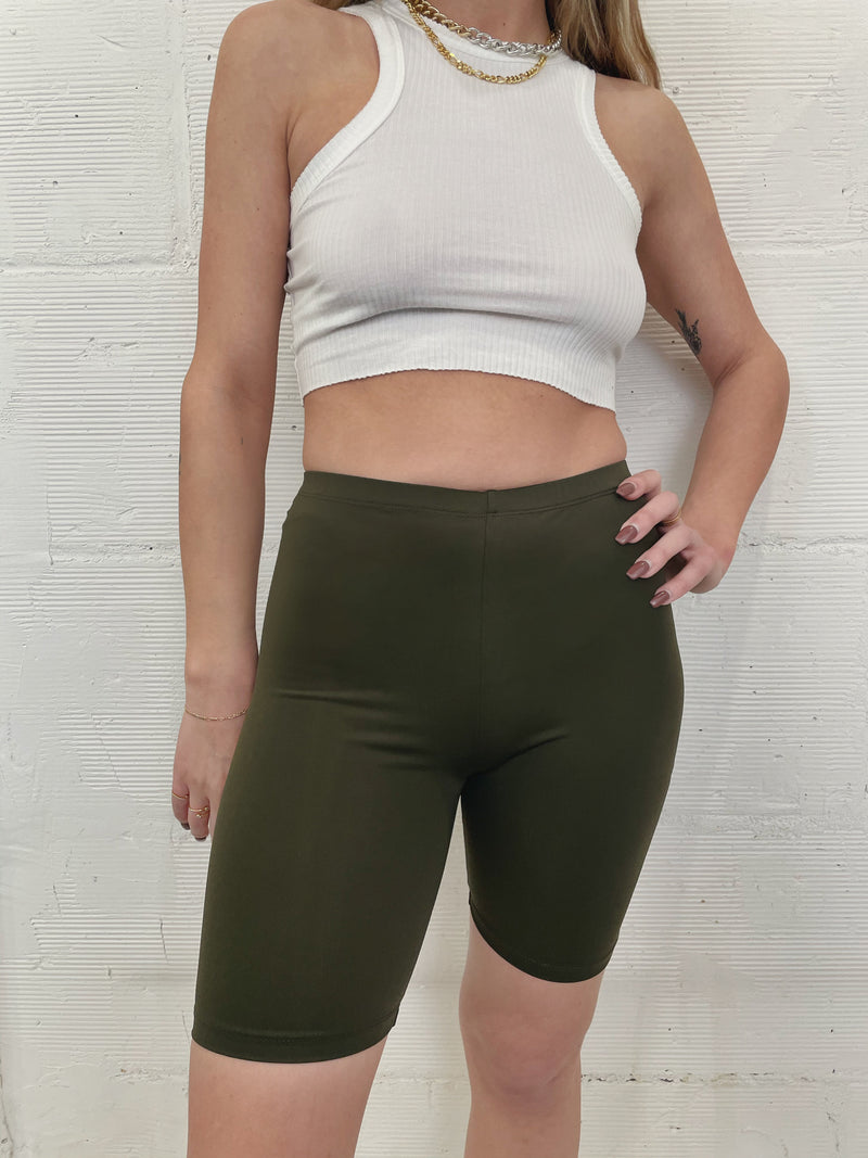 Best Yet Biker Short - Olive