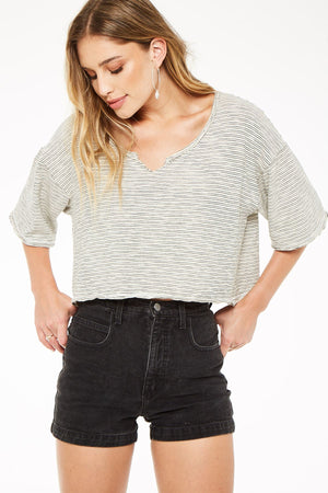 Stripe Notch Crop