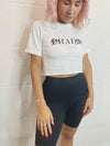 Rad Crop Tee - White