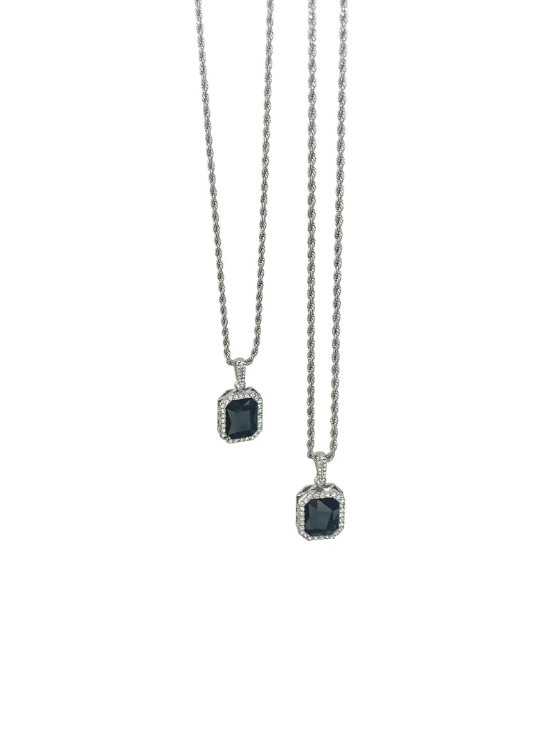 Rogue Gemstone Necklace - Silver