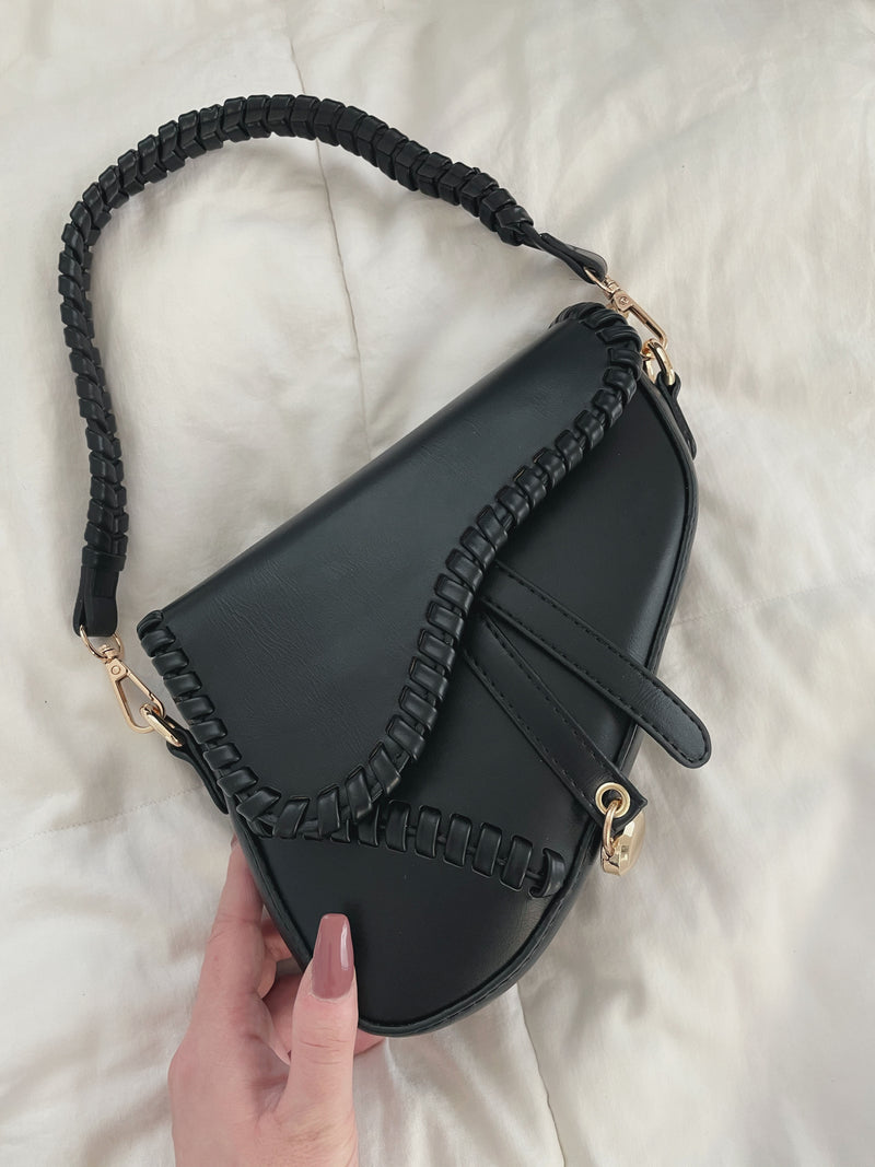 Lea Saddle Bag - Black