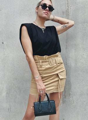 Aint No Thing Skirt - Tan