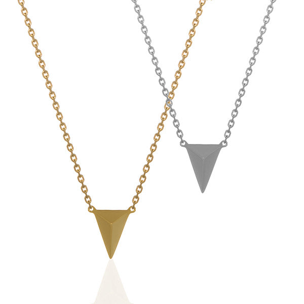 3D Small Triangle Necklace