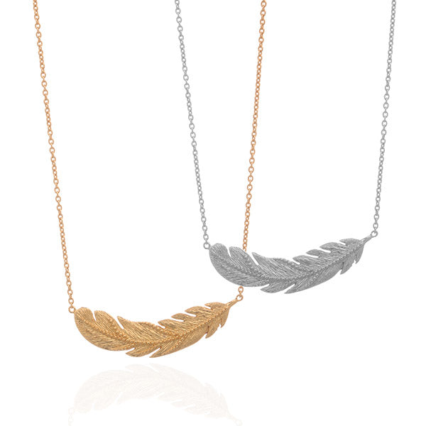 Textured Feathered Necklace