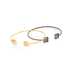 Square Pave Bangle