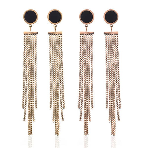 Stud Fringe Earrings