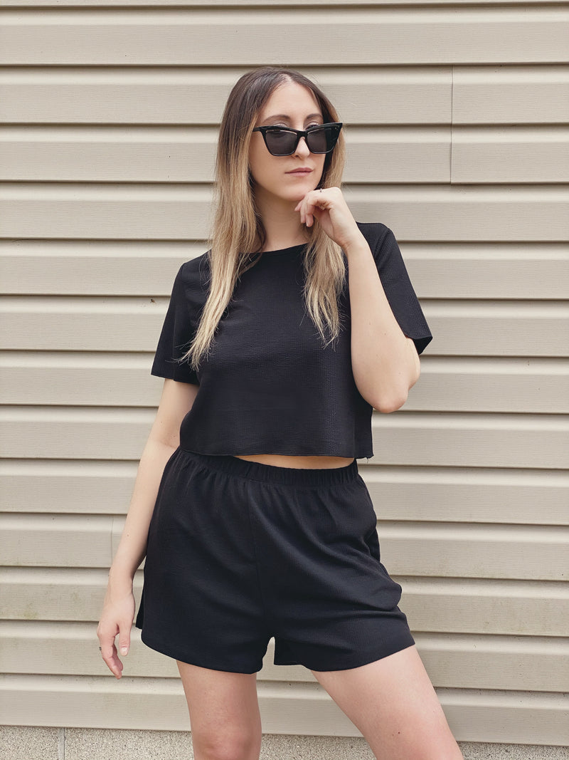 Black Tee & Short Set