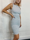 Via Ruched Bodycon Dress
