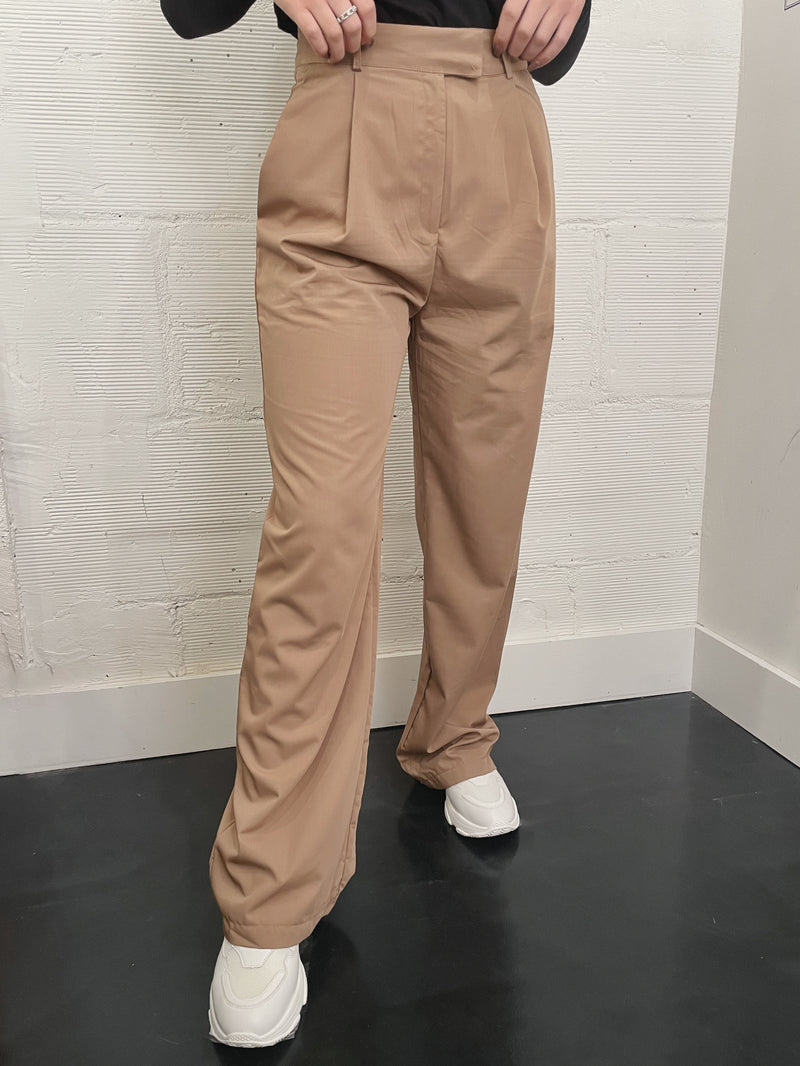 Vice Wide Leg Trouser - Tan