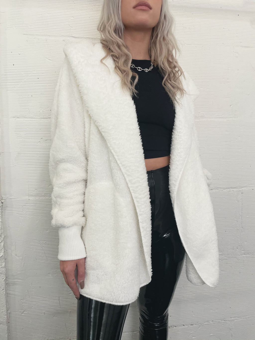 Faux Real Jacket - White