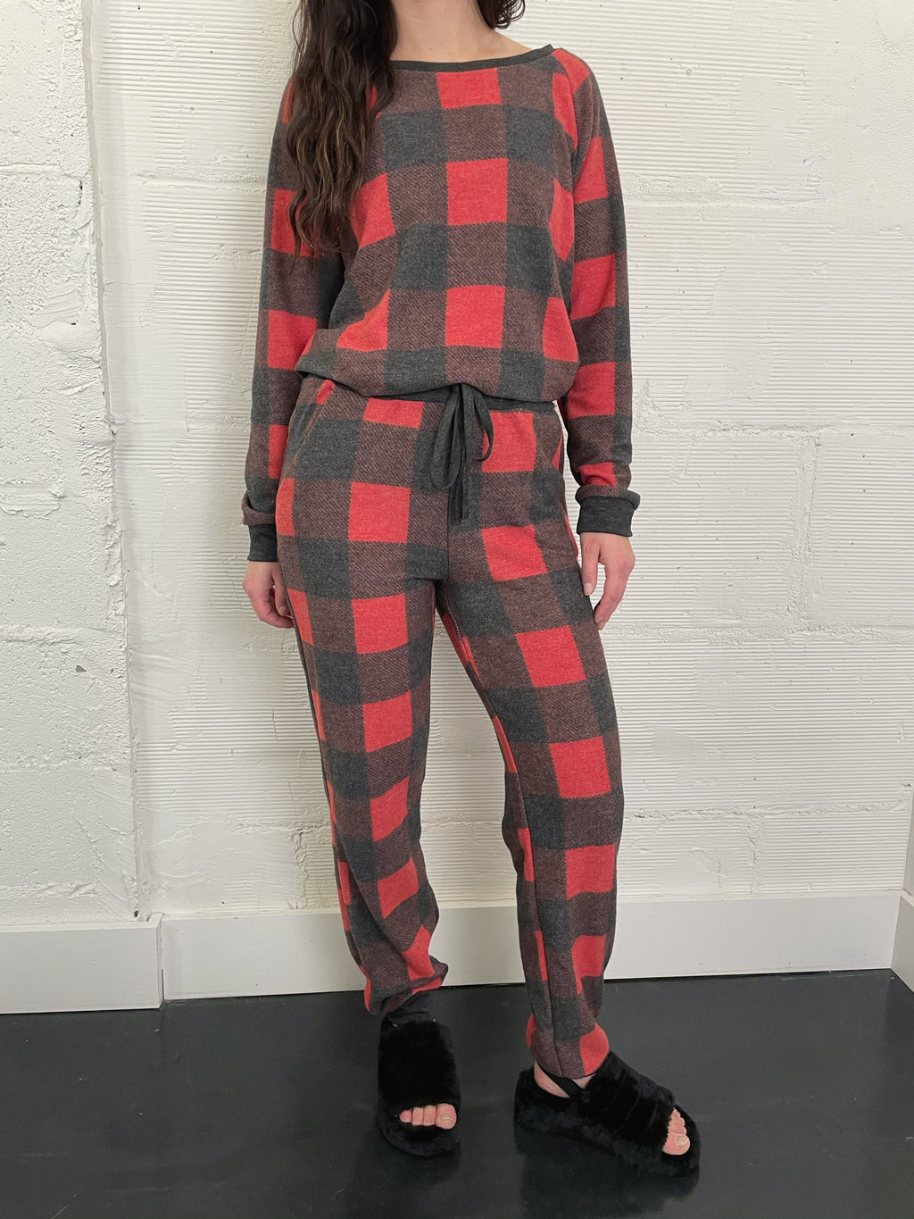 Holiday Plaid Lounge Pant