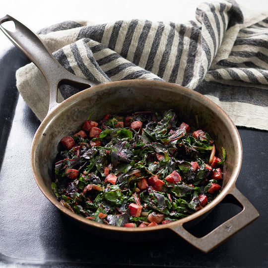 Skillet Greens with Ham