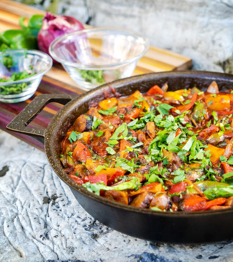 Cast Iron Sausage and Peppers Recipe
