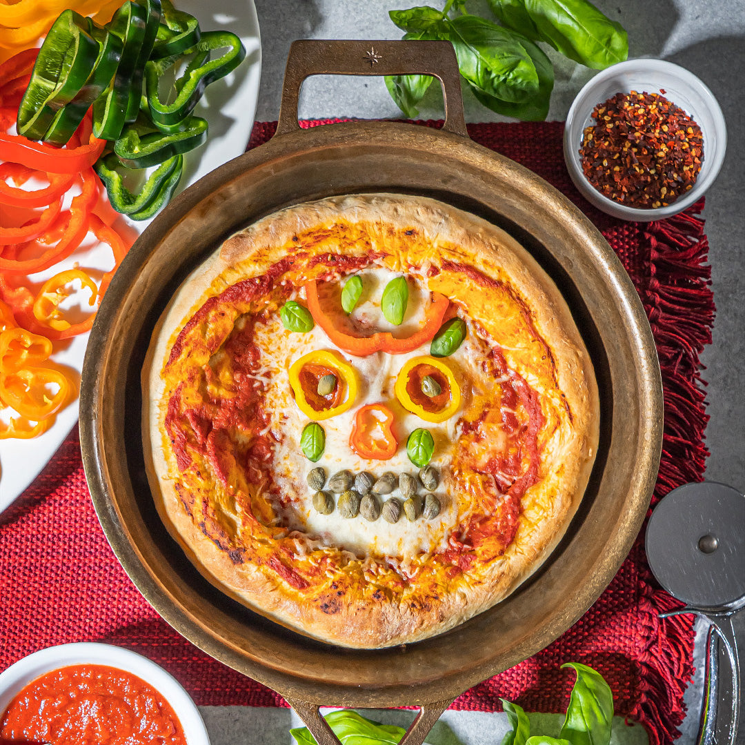 Sugar Skull Cast Iron Pizza