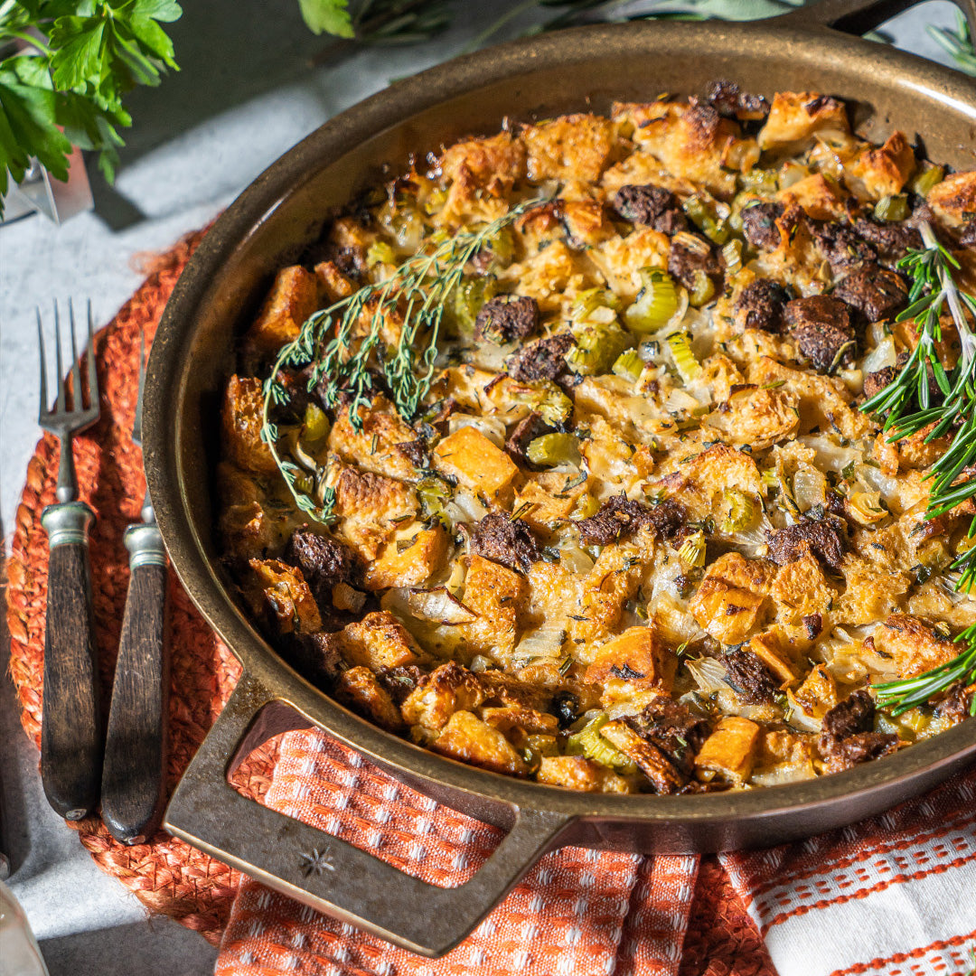Thanksgiving Stuffing Skillet