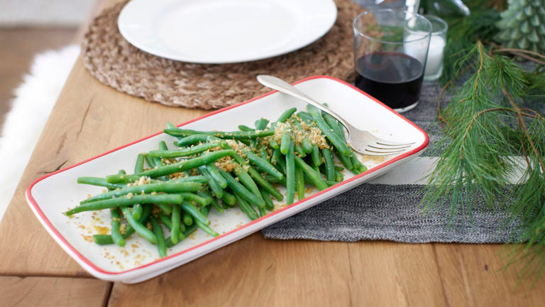 Grean Beans with Crispy Crumbs