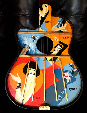 A Painted Guitar Art Print
