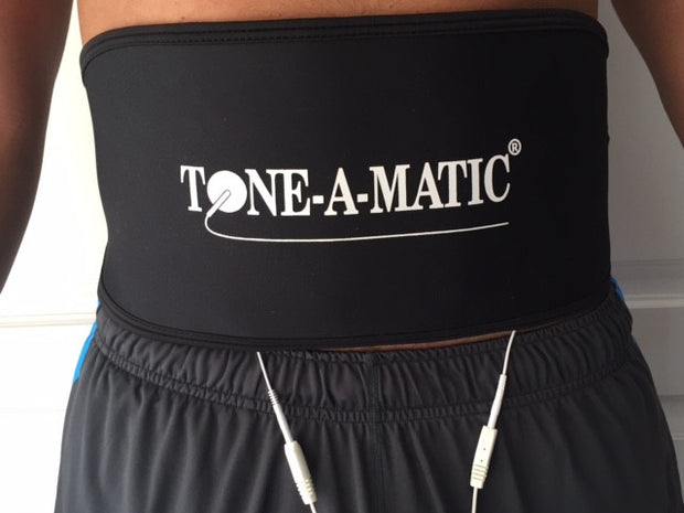 Man wearing Tone-A-Matic Abdominal Belt
