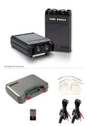 Tone-A-Matic TENS device with Accessories (pads, wires, battery, case)