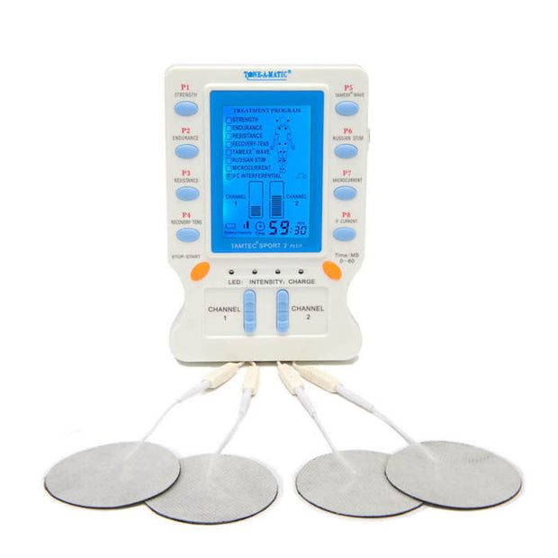 Electronic Muscle Stimulator Machine - Tone-A-Matic TAMTEC 2-Channel unit