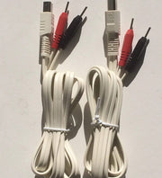 Replacement Wires with Positive and Negative Indicators for TAMTEC Electronic Muscle Stimulator Machines