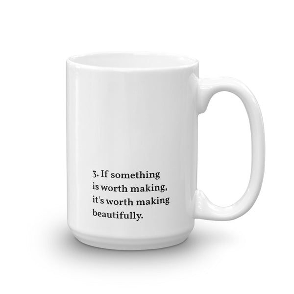 IOD Manifesto Mugs, No.3 Worth Making Beautifully