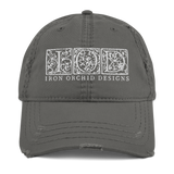 IOD Vintage Ball Cap, white embroidery