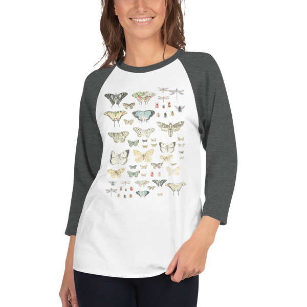 IOD 3/4 sleeve raglan shirt, Entomology Etc.