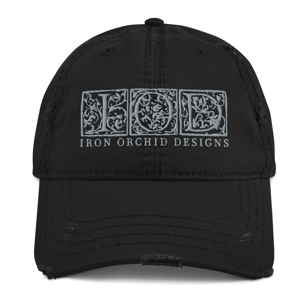 IOD Vintage Ball Cap, Black with gray embroidery