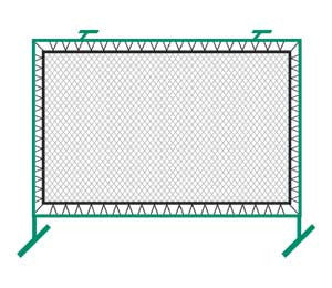Bakko Net Series, Outdoor Fence Mount, 9 1/4'h x 12 1/5'w