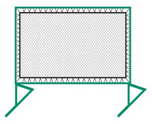 "Bakko Net Series, Portable, Outdoor, 9 1/4'h x 12 1/5""w"