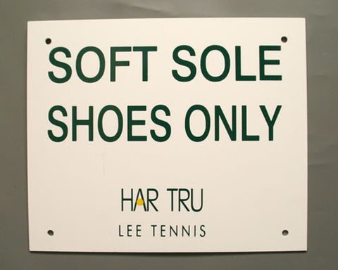 Soft Sole Shoes Only Sign
