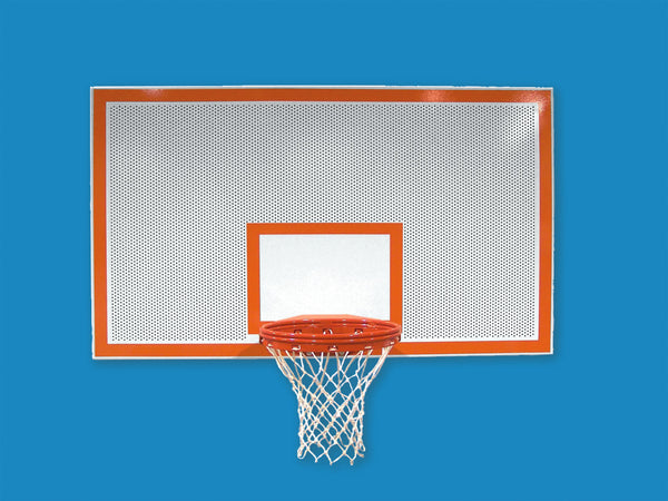 "Rectangular Perforated Steel Basketball Backboard - Standard Size 42"" x 72"""