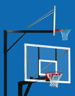 Super Six Basketball System - Pole & Extension (for in-ground installation)