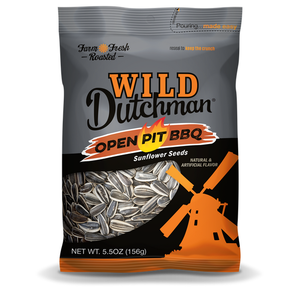 OPEN PIT BBQ FLAVORED SUNFLOWER SEEDS • 5.5 OZ