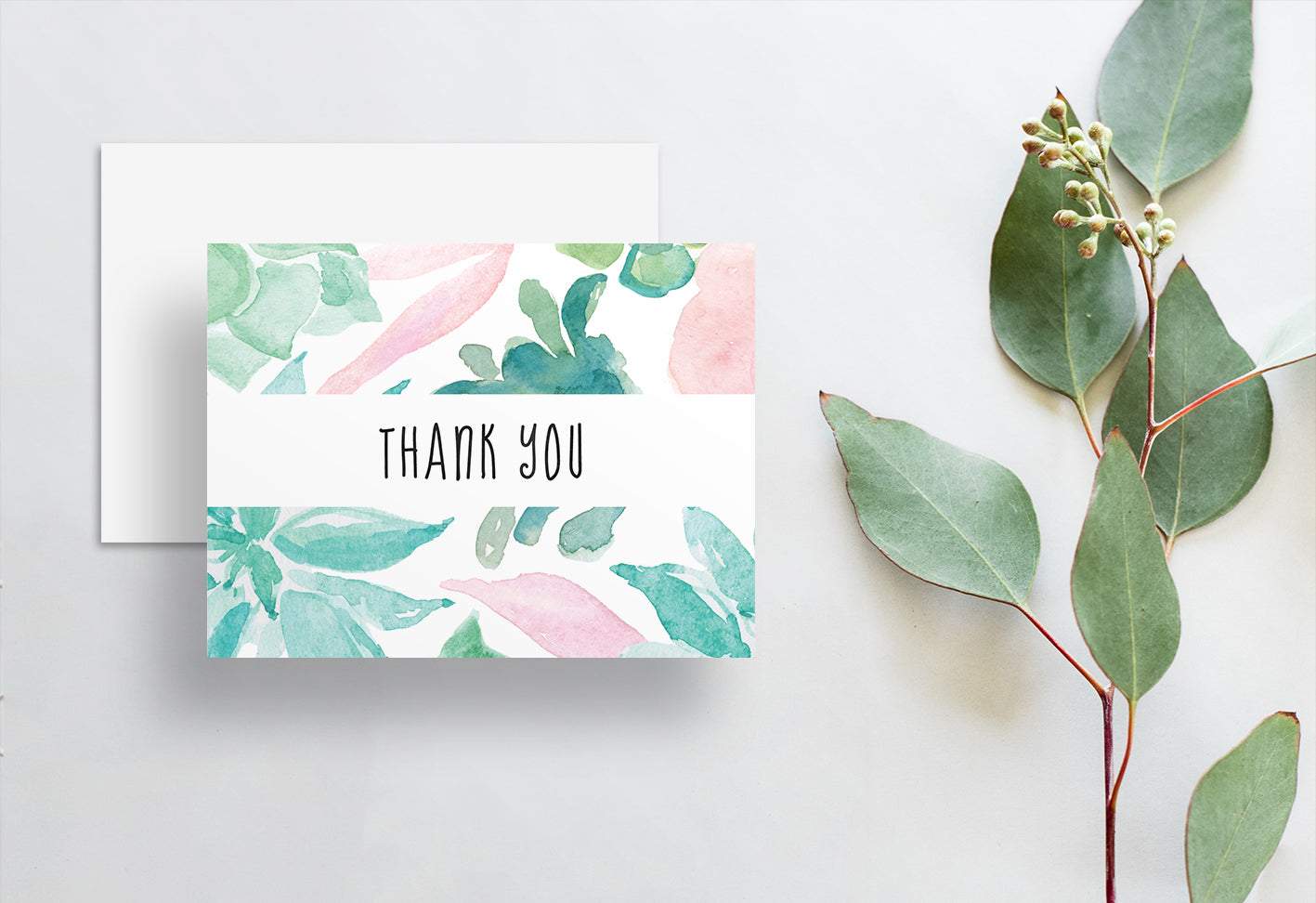 Desert Floral Thank You Cards