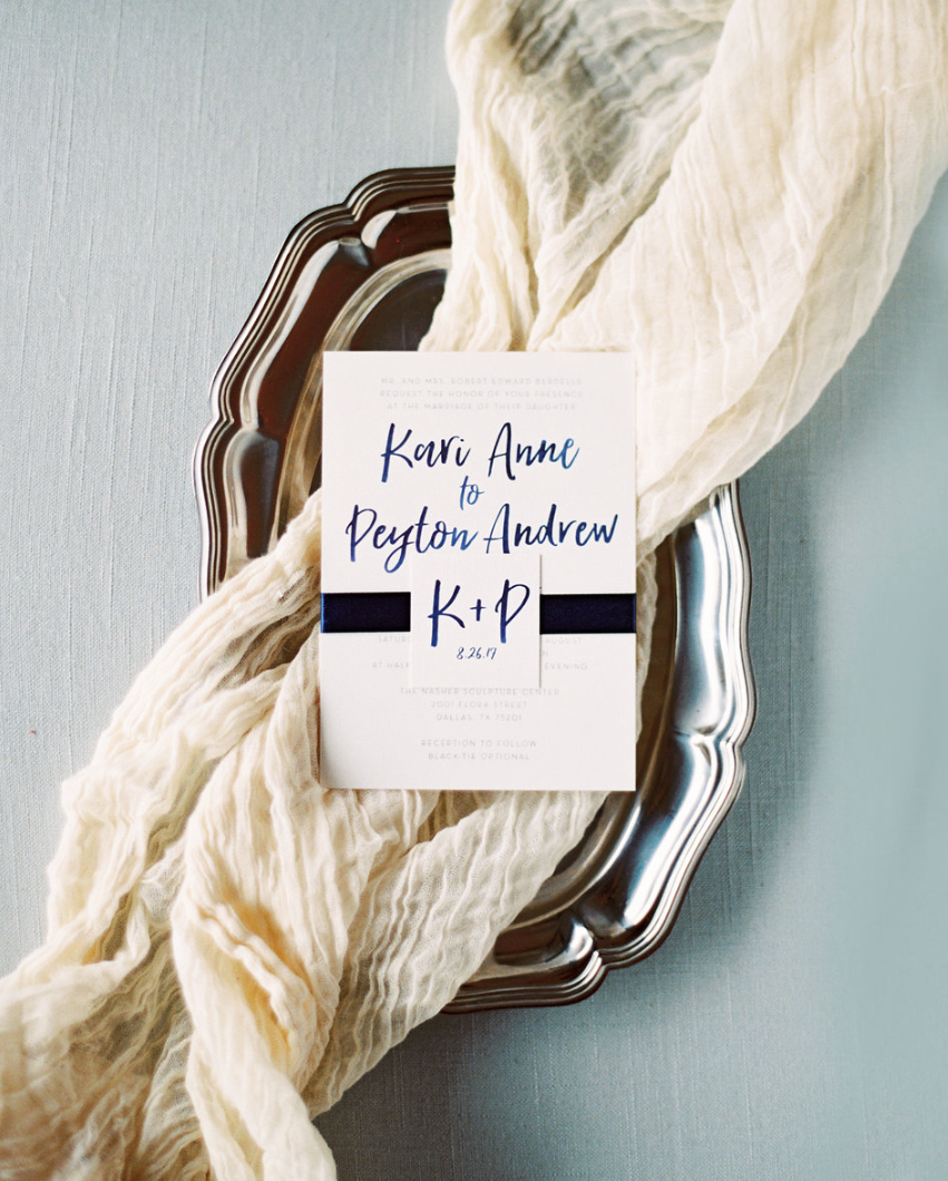 Simple Brush Lettering Wedding Invitations (any color!)