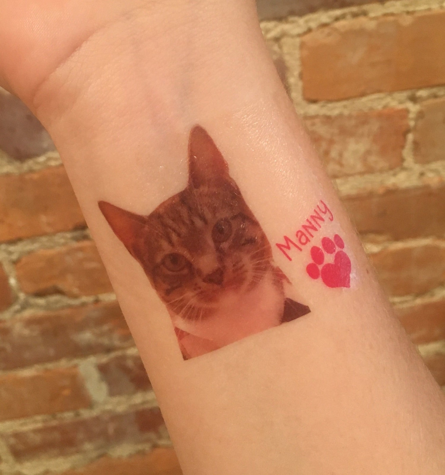 temporary tattoo // pet photo // custom