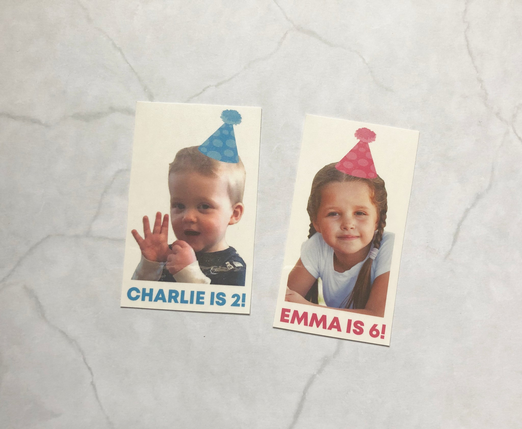 temporary tattoo // kids' birthday photo // custom