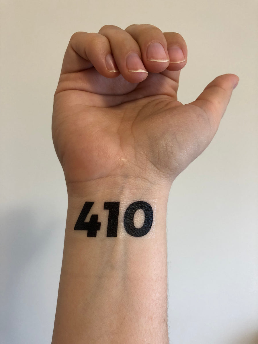 temporary tattoo // zip code or area code // custom